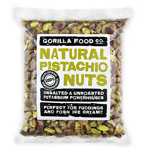 Gorilla Food Co. Pistachio Shelled Raw Nutmeats (No Shell) Kernels Unsalted (FRESH CROP BACK IN STOCK) - 1 Pound Resealable Bag