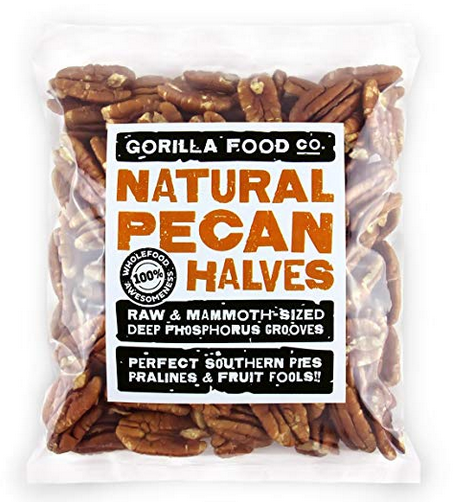 Gorilla Food Co. Pecan Halves Raw Mammoth - 1 Pound Resealable Bag