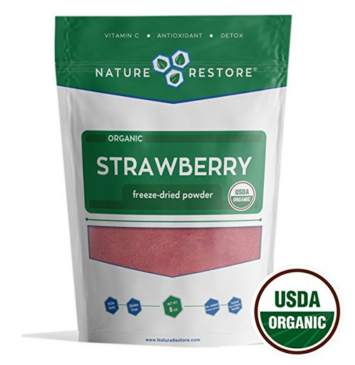 Nature Restore Organic Freeze Dried Strawberry Powder (226 grams)