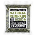 Pumpkin Seeds Raw Pepitas Shelled (No Shell) Unsalted - 1 Pound Resealable Bag